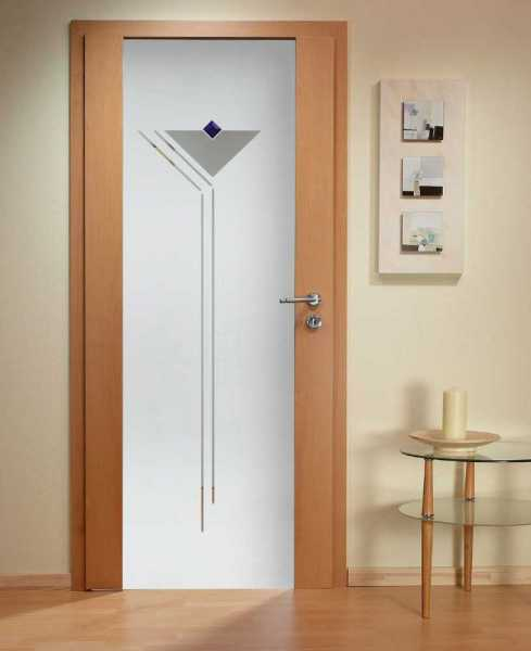 Solid Wood Hinged Door with Glass Insert HWDI-004