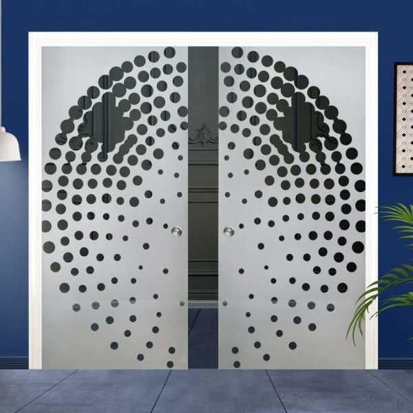Double Pocket Glass Barn Door (Model DPSGD-0129 Semi-Private)_Recessed Grip Handle