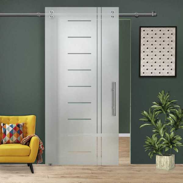 Glass Barn Door (Model SGD-V2000-0020 Semi-Private)