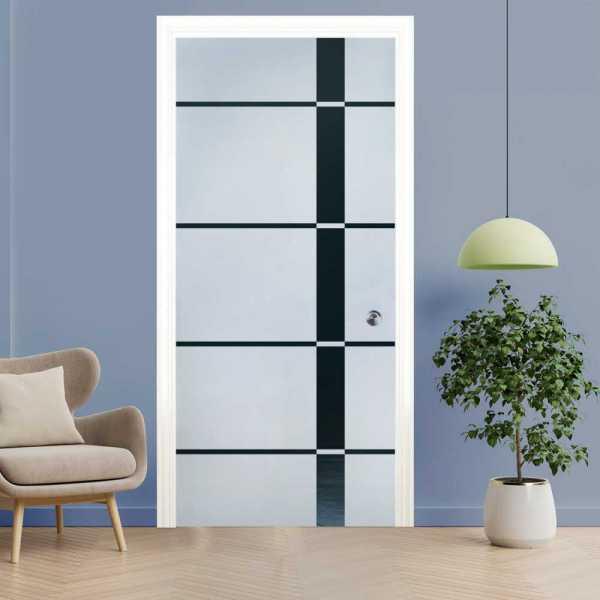 Pocket Glass Barn Door (Model PSGD-0046 Semi-Private)