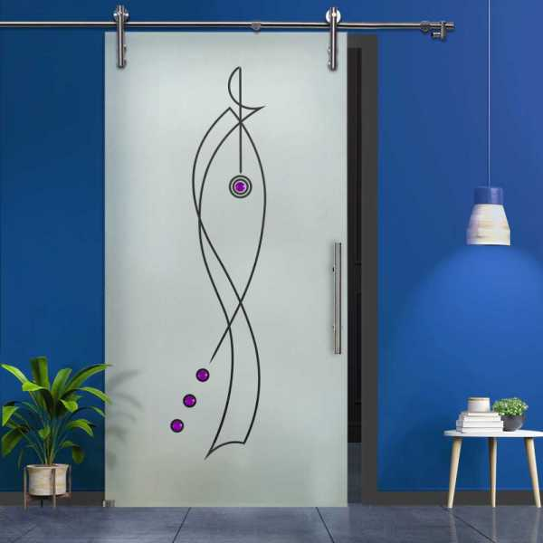 Glass Barn Door SGD-V1000-0033 Semi-Private