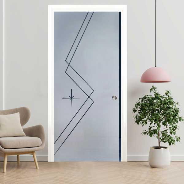 Pocket Glass Barn Door (Model PSGD-0063 Semi-Private)
