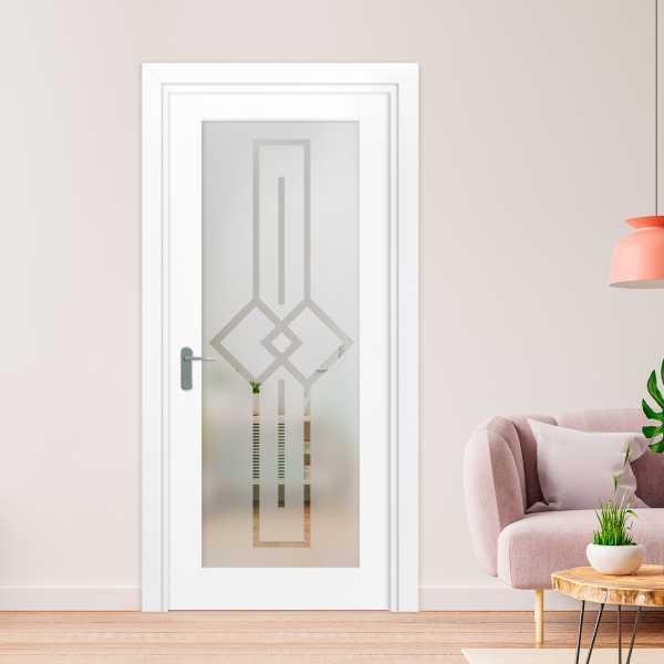 1 Lite Interior Door with Glass Insert (Model 1LID-0011 Semi-Private)