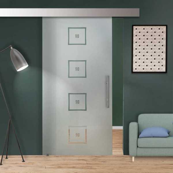Glass Barn Door (Model SGD-ALU100-0224 Semi-Private)